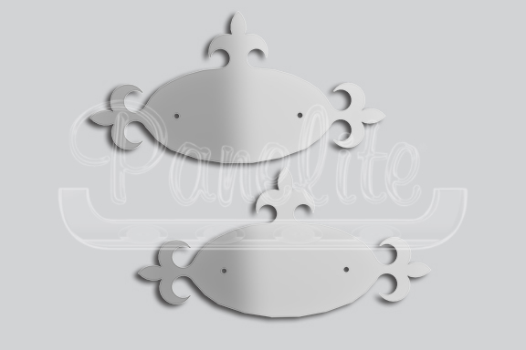 OVAL WITH SPADE EXTENSIONS EMBLEM ACCENTS image