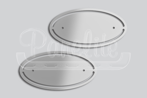 OVAL WITH CUTOUTS EMBLEM ACCENTS image