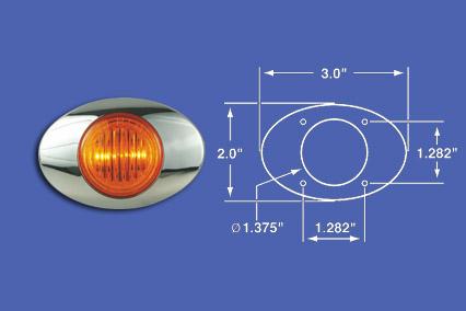M3 AMBER LED WITH BEZEL image