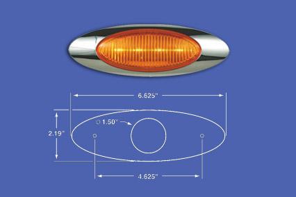 M1 AMBER LED WITH BEZEL image