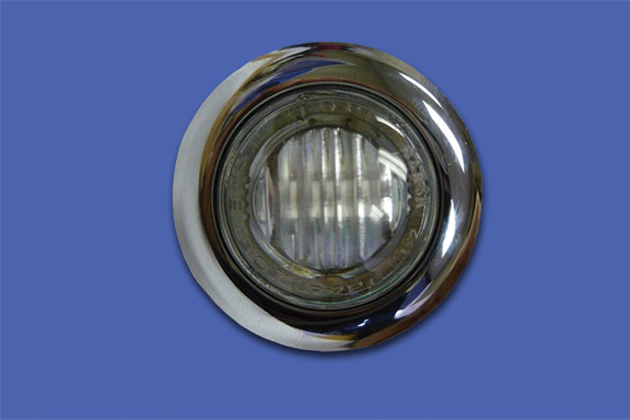 3/4″ ROUND AMBER CLEAR LED image
