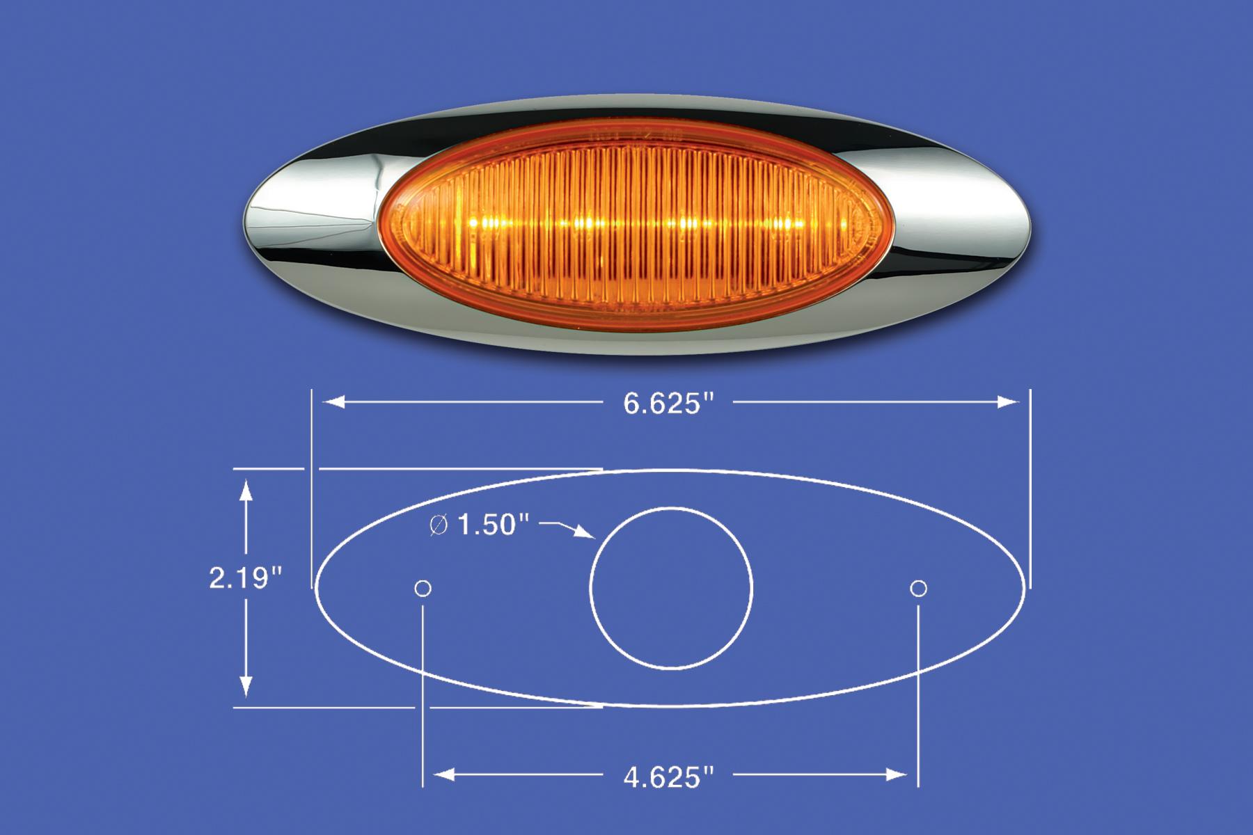 M1 AMBER LED TURN SIGNAL WITH BEZEL image