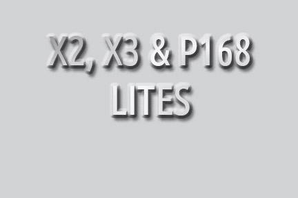 X2, X3 & P168 Lites