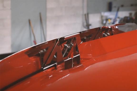 Grab handles for hood tilting Image